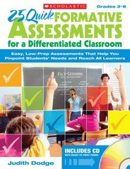 25 Quick Formative Assessments for a Differentiated Classroom 1st Edition 9780545087421 0545087422
