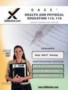 GACE Health and Physical Education 115, 116 1st Edition 9781581977745 1581977743