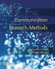 Communication Research Methods 2nd Edition 9780195314823 0195314824