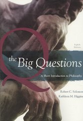 The Big Questions 8th edition 9781111781309 1111781303