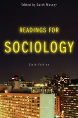 Readings for Sociology 6th Edition 9780393932447 0393932443