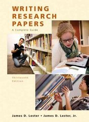 Writing Research Papers (Perfect) 13th edition 9780205651924 0205651925