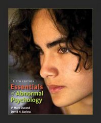 Essentials of Abnormal Psychology (with CD-ROM) 5th edition 9780495599821 0495599824