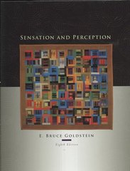 Sensation and Perception 8th edition 9781111783068 1111783063