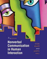 Nonverbal Communication in Human Interaction 7th Edition 9780495568698 0495568694