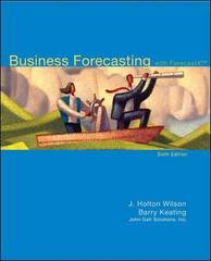Business Forecasting with Student CD 6th Edition 9780077309305 0077309308