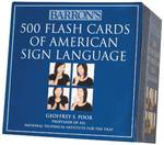Barron's 500 Flash Cards of American Sign Language 1st Edition 9780764162220 0764162225