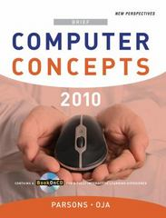New Perspectives on Computer Concepts 2010, Brief 12th edition 9780324780857 0324780850