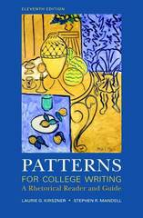 Patterns for College Writing 11th edition 9780312488413 0312488416