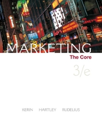 Marketing: The Core 3rd edition 9780073381060 0073381063