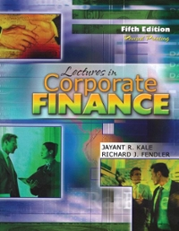 Lectures in Corporate Finance 5th edition 9780757557675 0757557678