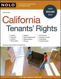 California Tenants' Rights 18th edition 9781413309362 1413309364