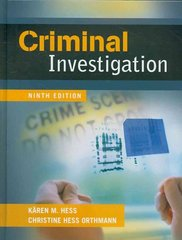 Criminal Investigation 9th Edition 9781435469938 1435469933