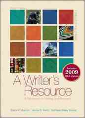 A Writer's Resource (comb-bound) 2009 MLA Update, Student Edition 3rd Edition 9780073383774 0073383775