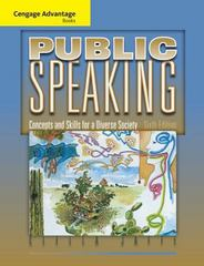 Cengage Advantage Books: Public Speaking 6th edition 9780495566649 0495566640