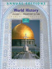 Annual Editions: World History, Volume 1: Prehistory to 1500, 10/e 10th edition 9780078127786 0078127785