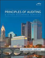 Principles of Auditing and Other Assurance Services 17th edition 9780073379654 0073379654