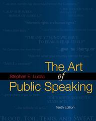 The Art of Public Speaking with Connect Lucas 10th edition 9780077306298 0077306295