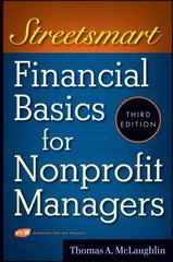 Streetsmart Financial Basics for Nonprofit Managers 3rd Edition 9780470414996 0470414995