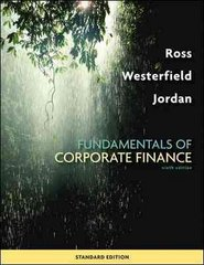 Fundamentals of Corporate Finance Standard Edition 9th edition 9780073382395 0073382396