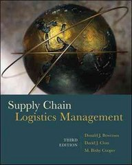 Supply Chain Logistics Management 3rd edition 9780073377872 0073377872