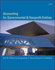 Accounting for Governmental and Nonprofit Entities 15th edition 9780073379609 0073379603