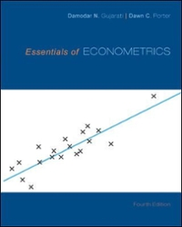 Essentials of Econometrics 4th Edition 9780073375847 0073375845