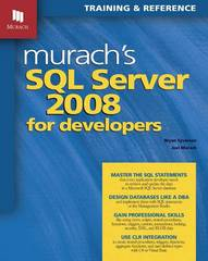 SQL Server 2008 for Developers 0 9781890774516 1890774510