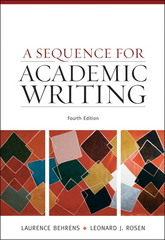 A Sequence for Academic Writing 4th edition 9780205674374 0205674372