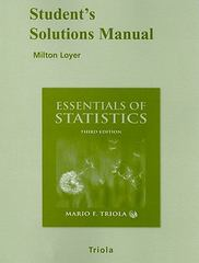 Student Solutions Manual for Essentials of Statistics 3rd edition 9780321439574 0321439570