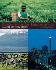 Geography of Sub-Saharan Africa 3rd edition 9780136056317 0136056318