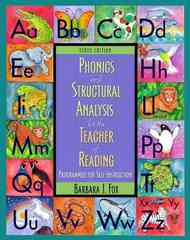 Phonics and Structural Analysis for the Teacher of Reading 10th edition 9780132080941 013208094X