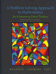 A Problem Solving Approach to Mathematics for Elementary School Teachers 10th edition 9780321570550 0321570553