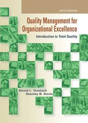 Quality Management for Organizational Excellence 6th edition 9780135019672 0135019672