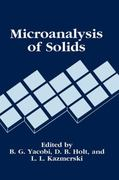 Microanalysis of Solids 1st edition 9780306444333 030644433X