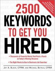 2500 Keywords to Get You Hired 1st edition 9780071406734 0071406735