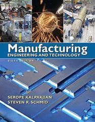 Manufacturing Engineering & Technology 6th edition 9780136081685 0136081681