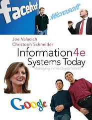 Information Systems Today: Managing the Digital World 4th Edition 9780136078401 0136078400