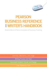 Pearson Business Reference and Writer's Handbook (with downloadable ebook access code) 1st edition 9780135140536 0135140536