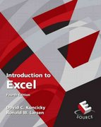 Introduction to Excel 4th edition 9780136081654 0136081657