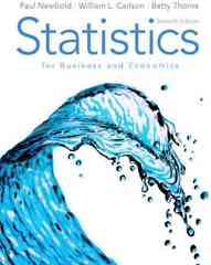 Statistics for Business and Economics 7th edition 9780136085362 0136085369