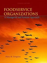 Foodservice Organizations 7th Edition 9780135060551 0135060559