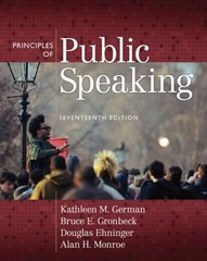 Principles of Public Speaking 17th edition 9780205653966 0205653960