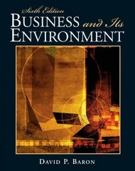 Business and Its Environment 6th edition 9780136083924 0136083927