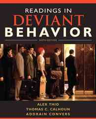 Readings in Deviant Behavior 6th Edition 9780205695577 0205695574