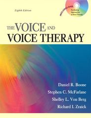 The Voice and Voice Therapy 8th Edition 9780205609536 0205609538