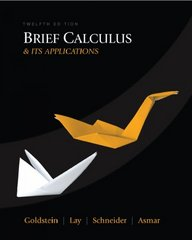 Brief Calculus & Its Applications 12th edition 9780321568564 0321568567