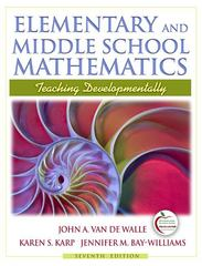 Elementary and Middle School Mathematics 7th Edition 9780205573523 0205573525