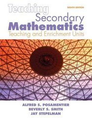 Teaching Secondary Mathematics 8th Edition 9780135000038 0135000033