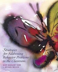 Strategies for Addressing Behavior Problems in the Classroom 6th edition 9780136045243 0136045243